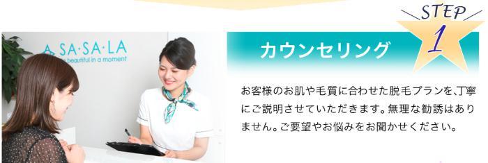 ササラ新宿:脱毛の流れ