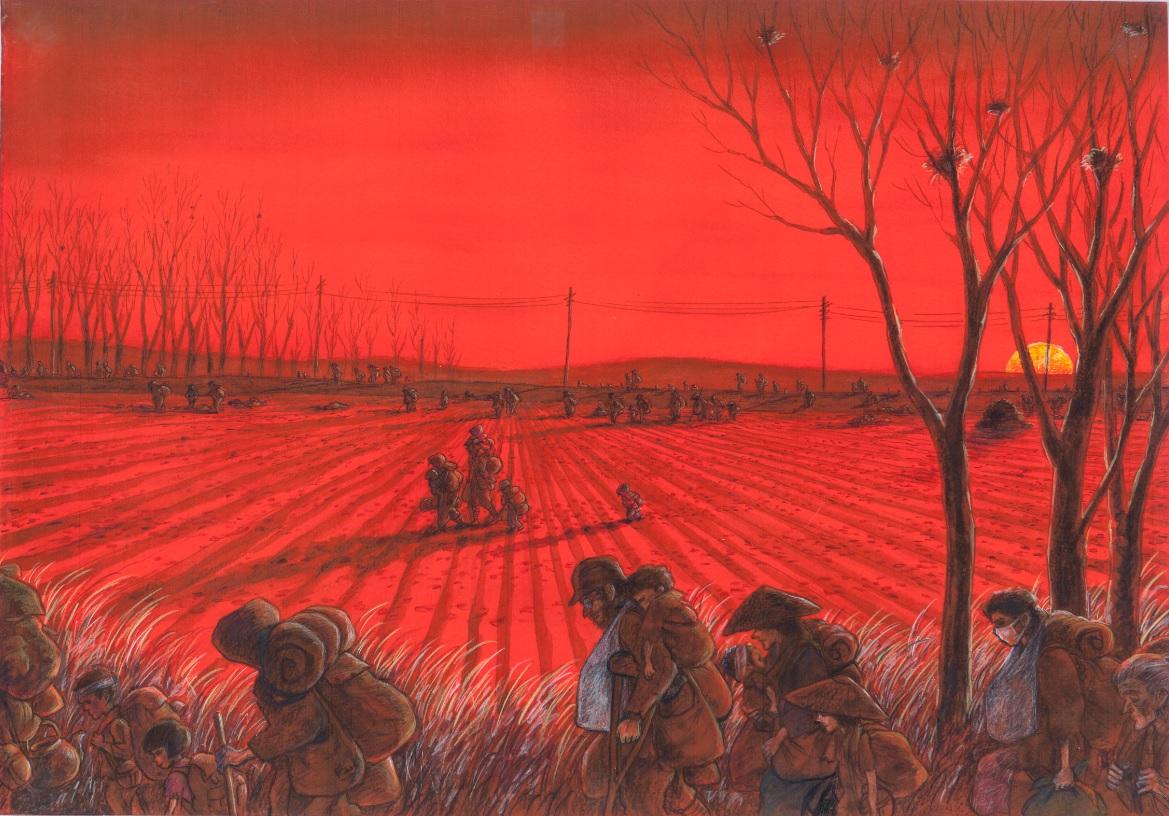 ちばてつや「赤い夕陽のなかをひたすら歩く」(後期)