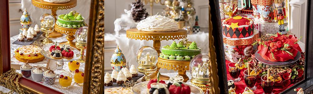 ゆったりと間隔をとった店内で味わうクリスマス・スイーツビュッフェ